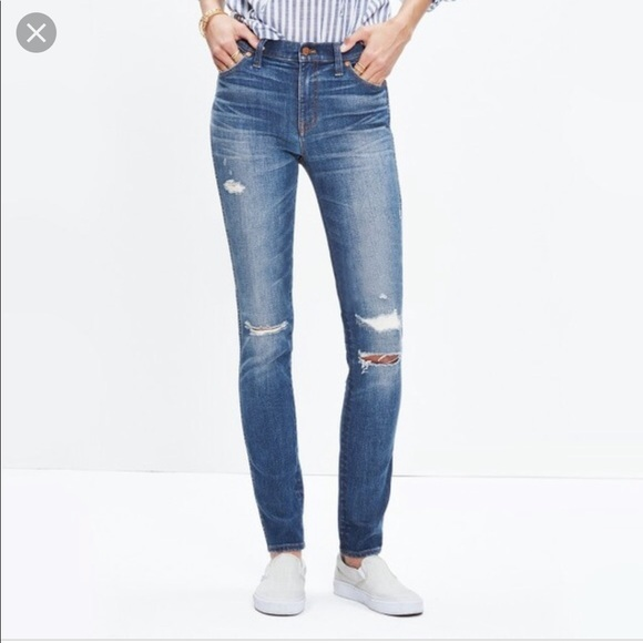 "Madewell Denim - Madewell • 9"" High Riser Skinny Skinny Jeans"